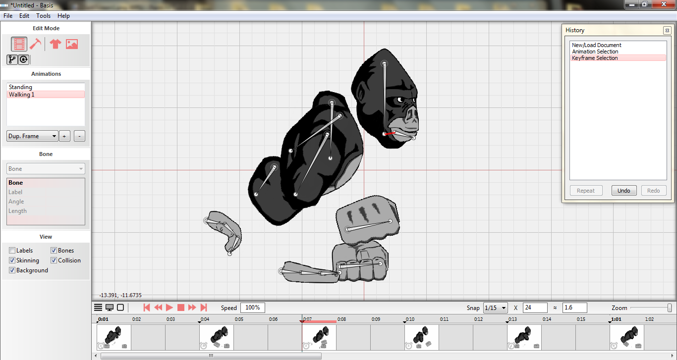 Basis - 2d Skeletal Animation Tool